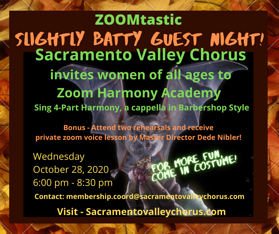 Slightly Batty Guest Night - ZOOMtastic